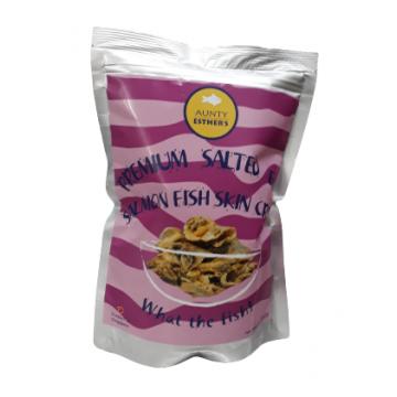 Premium Salted Egg Salmon Fish Skin Crisps (100g)